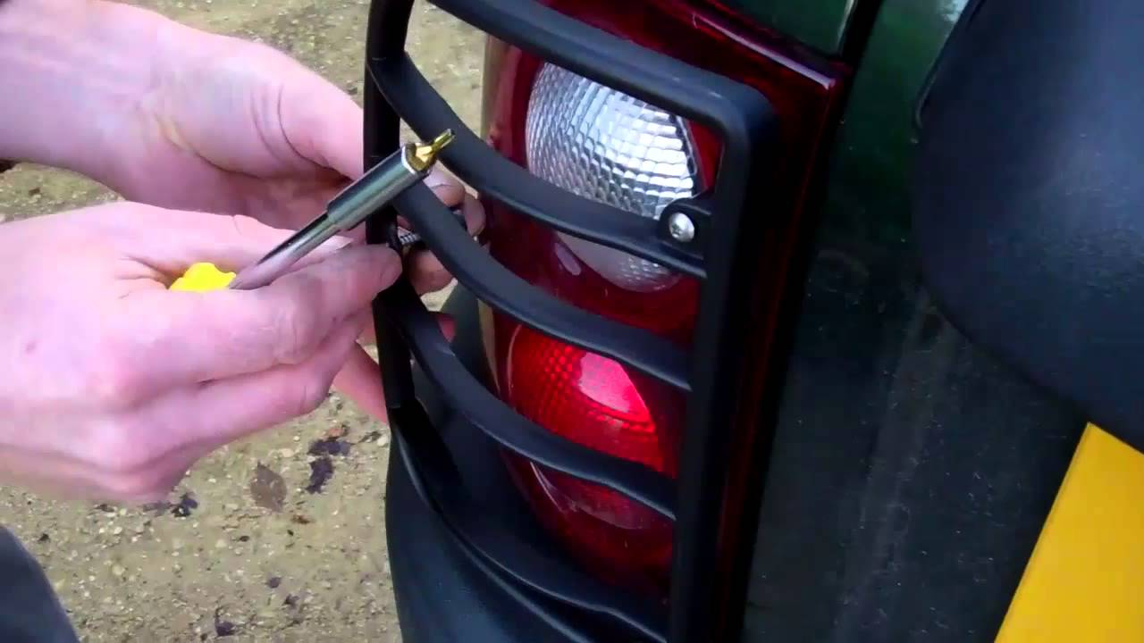 How To Fit Rear Light Guards On Land Rover Freelander 1