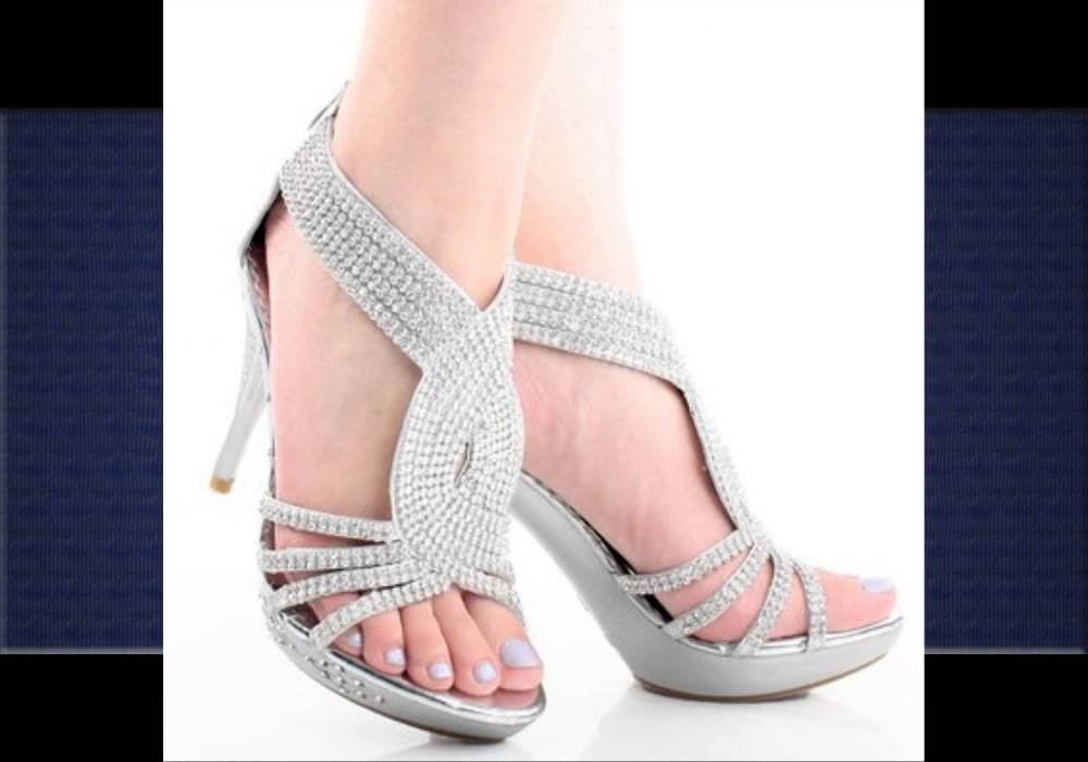 Silver High Heel Sandals - YouTube