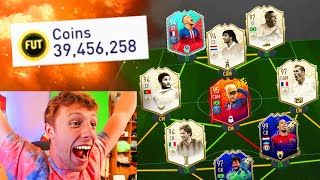 THIS 195 RATED FUT DRAFT COST ME 39,456,258 COINS!! - FIFA 20