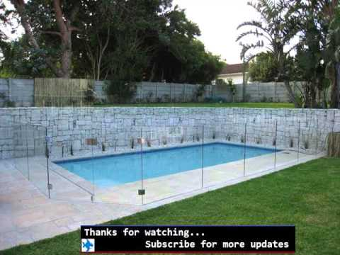 Pool Fence Glass Fences Around The Pool Youtube