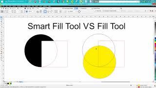 Corel Draw Tips & Tricks Smart Fill Tool VS Fill Tool