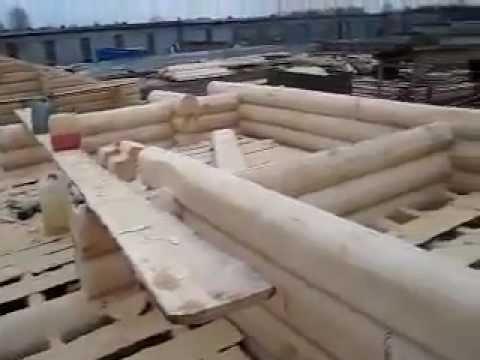 Строительство дома ручной рубки.