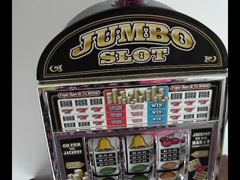 Trademark Global Jumbo Slot Machine Bank DEMO & Mini Review
