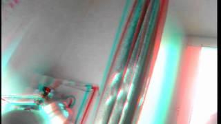 Видео с моей 3d камеры.(Объективы ИК (ночные), поэтому цвета неестественные, а деревья на улице белые. Как только приедут дневные..., 2011-07-07T21:07:07.000Z)