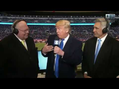 2016 Army vs Navy - Donald Trump on CBS (FULL Interview with CHEERING)