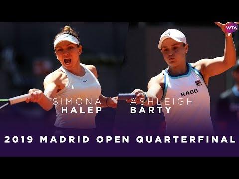 Simona Halep Vs. Ashleigh Barty | 2019 Madrid Open Quarterfinals | WTA Highlights