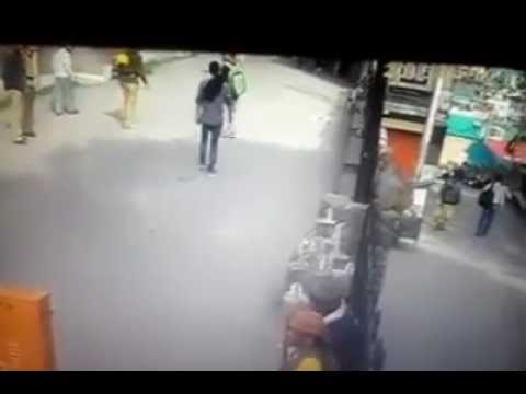 Pedestrian Flips Off Monkey, Immediately Gets Drop-Kicked By Said Monkey