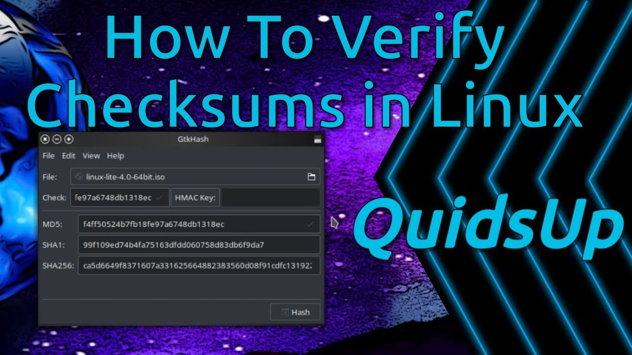 How to Verify Checksums In Linux