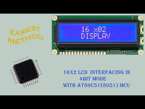 16x2 LCD interfacing | 4 bit mode | with 8051