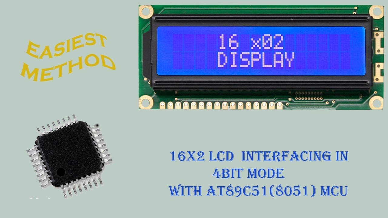 16x2 LCD interfacing | 4 bit mode | with 8051 microcontroller | By MEXTech