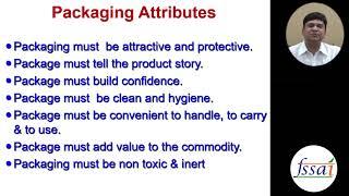 Food Packaging - Dr. Tanweer Alam | FSSAI