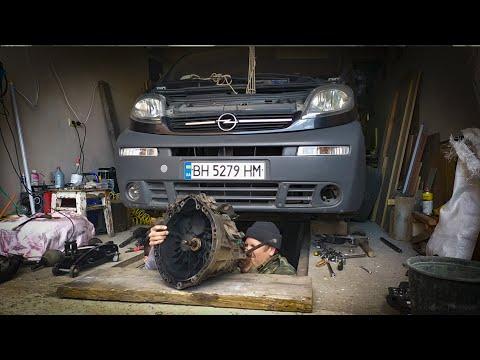 Снятие коробки Opel Vivaro 1.9 dti 2003 года