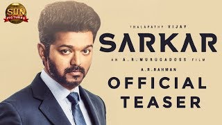 SARKAR Official Teaser Release Time Revealed | Thalapathy Vijay | A.R.Murugadoss | TT 295