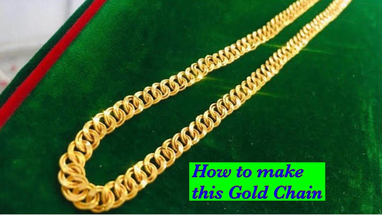 Gold chain making | Double ring chain making | How gold chain is made