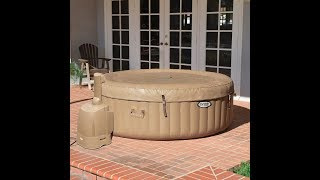 Intex Portable Pure Spa Inflatable Hot Tub Set Up / Review, Instructions, Tutorial, Guide