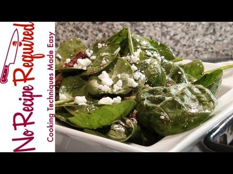 Spinach Salad With Bacon - NoRecipeRequired.com