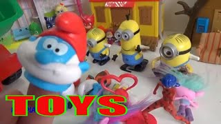 TOYS - Minions, PJ Masks, The Smurfs,  Ladybug, Fun Video for KIDS, Music for Children,