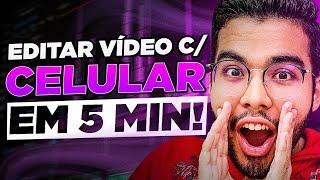 Como editar vídeos para o YouTube pelo Celular em 5 MINUTOS! (APP GRÁTIS)