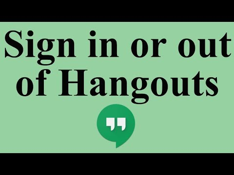 Sign In Or Out Of Hangouts
