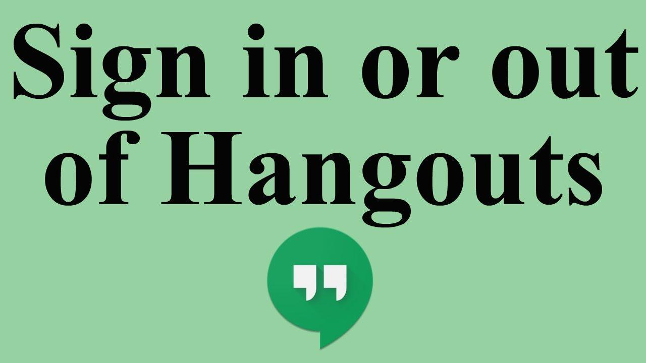 sign in of hangouts