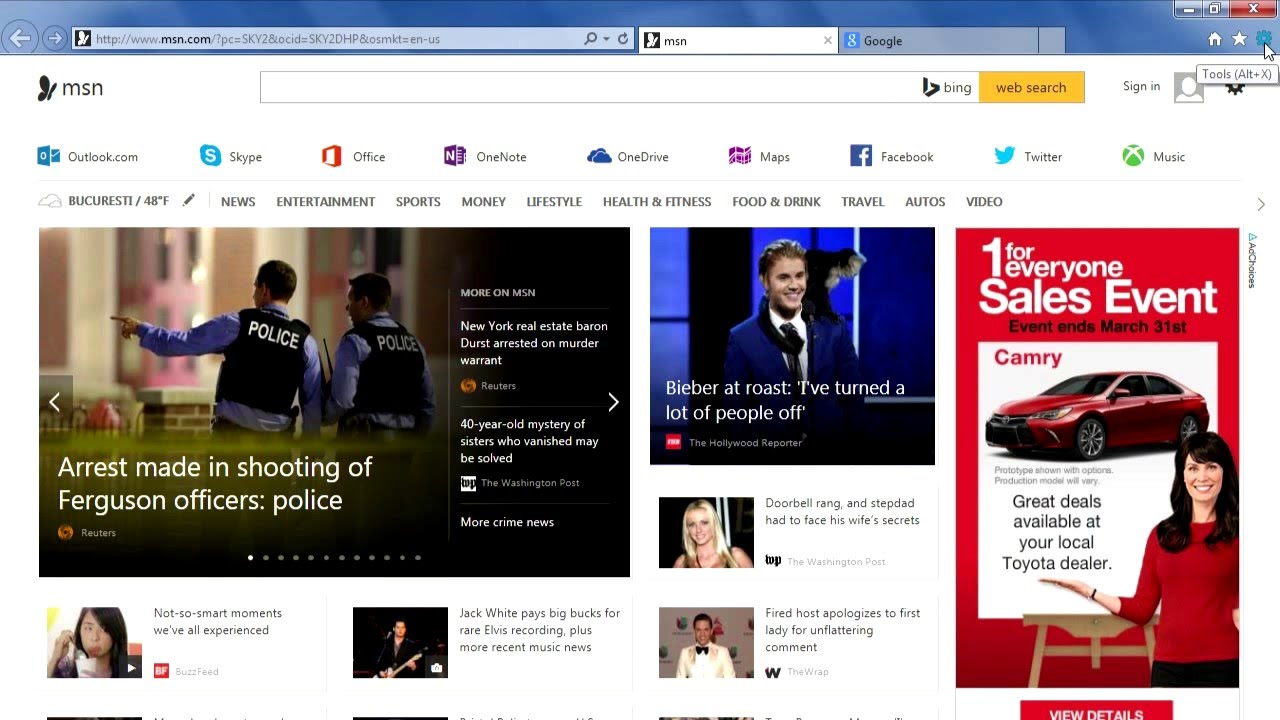 How to eliminate automatically opening tabs in Internet Explorer