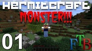 Hermitcraft FTB Monster Ep 1 - The First Night !!!