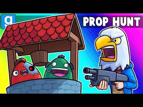 Gmod Prop Hunt Funny Moments - Easter Well VS Content Crashers! (Garry's Mod)