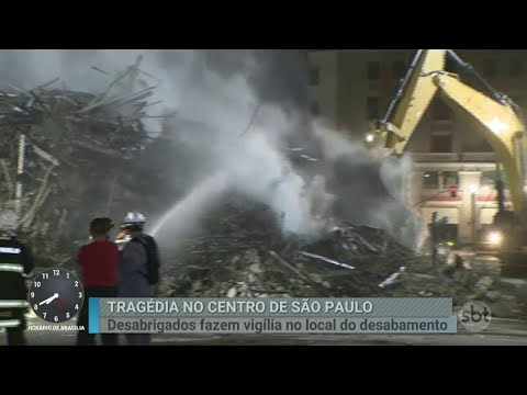 Bombeiros continuam buscas nos escombros de prédio que desabou   Primeiro Impacto (02/05/18)