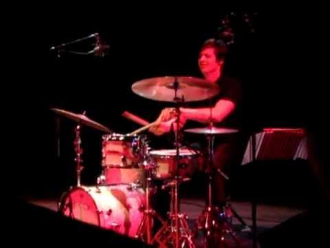 Ches Smith drum solo 1 - Mary Halvorson Trio, De Singel, Antwerpen, 2012-10-03