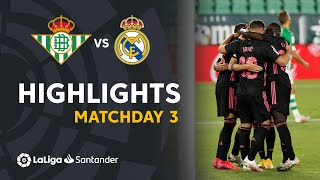 Highlights Real Betis vs Real Madrid (2-3)