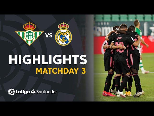 Highlights Real Betis vs Real Madrid (2-3)