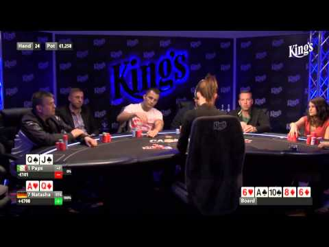 CASH KINGS E45 1/2 - DE - NLH 2/5 ante 5 - Live cash game poker show