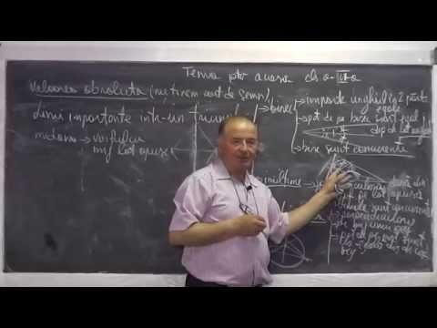 Lectia 494 - Linii importante intr-un triunghi Bisectoare Inaltime Mediatoare Mediana Tema Clasa 6