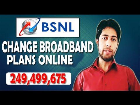 How To Change Bsnl Broadband Plan Online