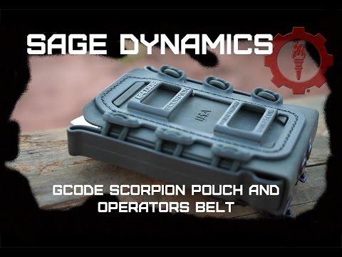 Gcode Scorpion pouches and Operator Belt