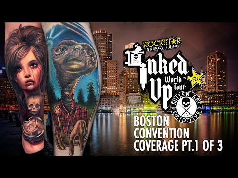 Rockstar Energy Inked Up Tour Tattoo Convention Coverage Boston part 1 of 3