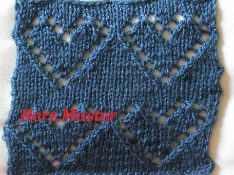 Ajourmuster 05*Herzenmuster Stricken*Muster Für Pullover*Mütze*Tutorial Handarbeit