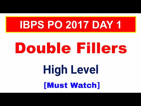 Double fillers CAT Level  , English Language IBPS PO   IBPS Clerk   IBPS RRB PO [ In Hindi ]