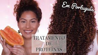 Tratamento de Proteínas com Mamão | Cabelo Cacheado