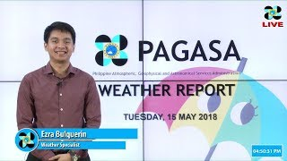 Public Weather Forecast Issued at 4:00 PM May 15, 2018