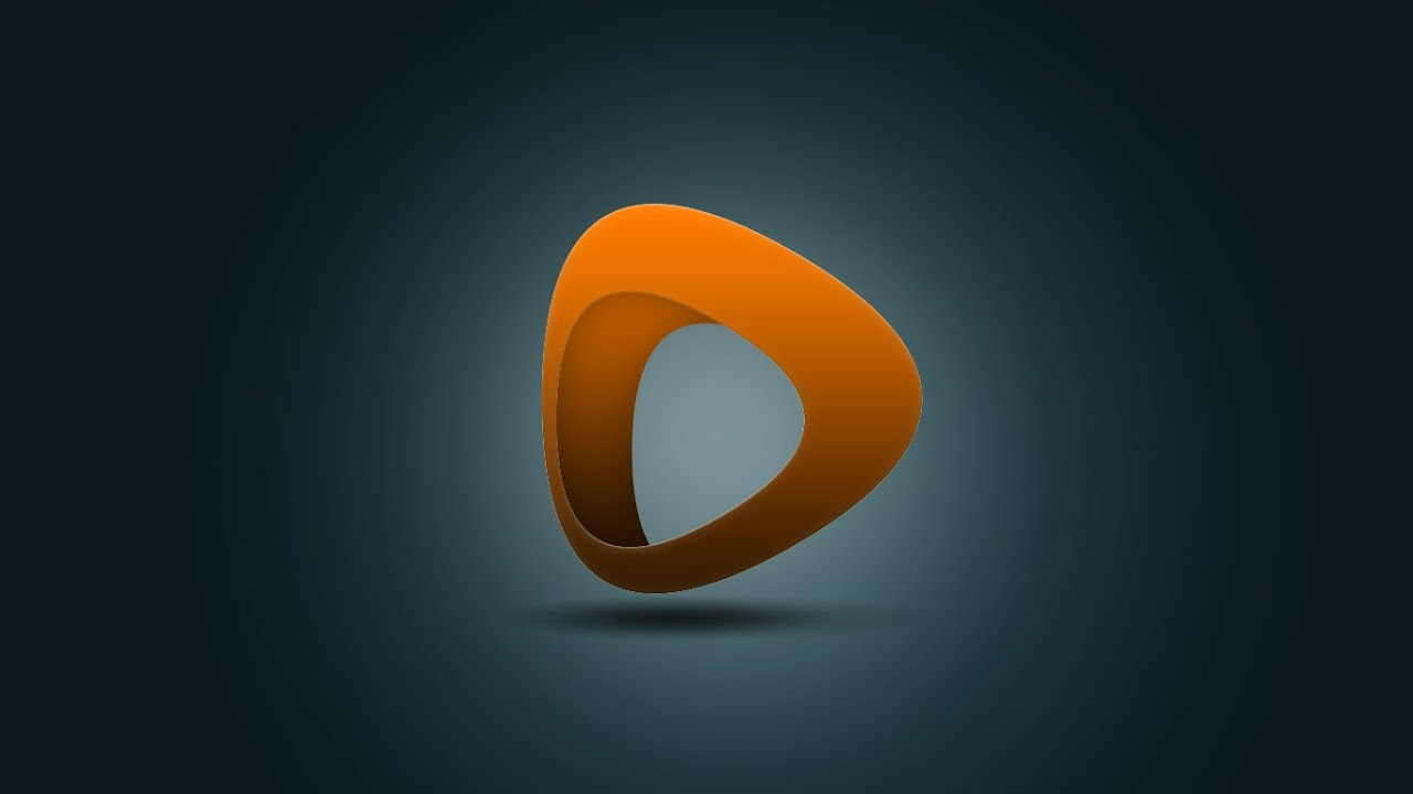 Photoshop Tutorial | 3D Logo Design (Orange) - YouTube