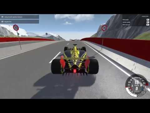 BeamNG drive Formula crash test wihout hans device