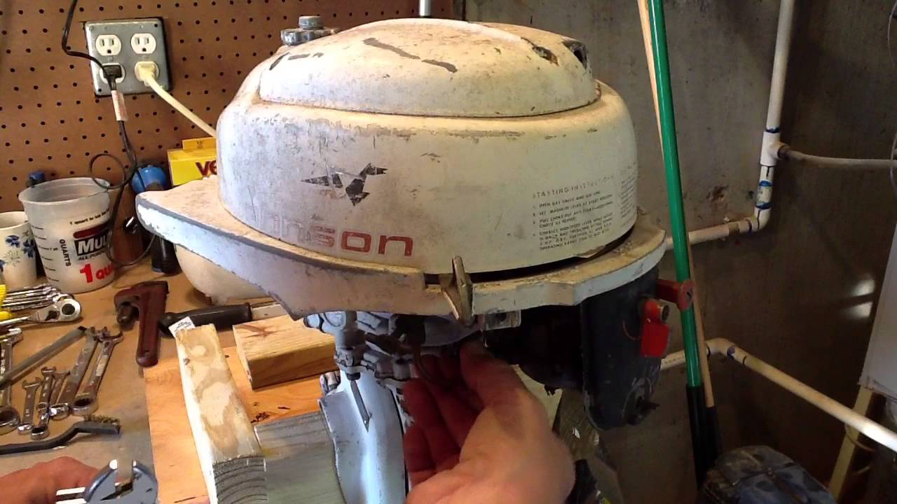 1962 johnson 3 hp restore part 1 assessing and carb removal youtube rh youtube com