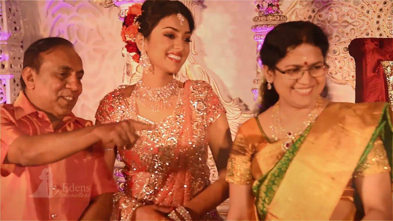 Jyothika Mehndi Ceremony : B. ravi pillais daughter arathi adithya wedding mehndi night at