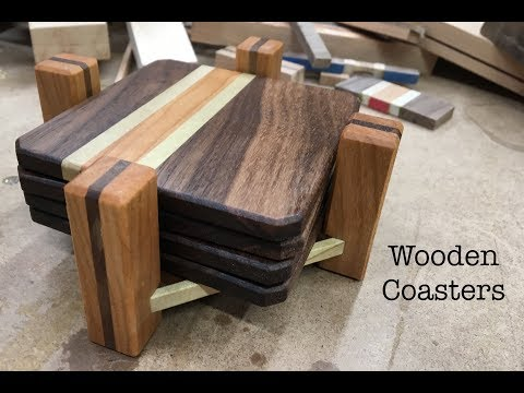 Making Wooden Coasters with Holders. 6 DIFFERENT DESIGNS!!