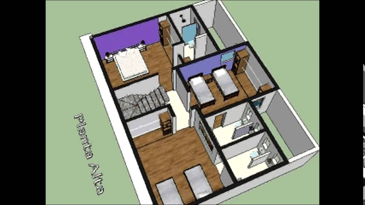 plano casa habitacion 12 x 9 mt - youtube