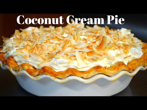 How to make a coconut cream pie | Pie crust recipe | Coconut pie