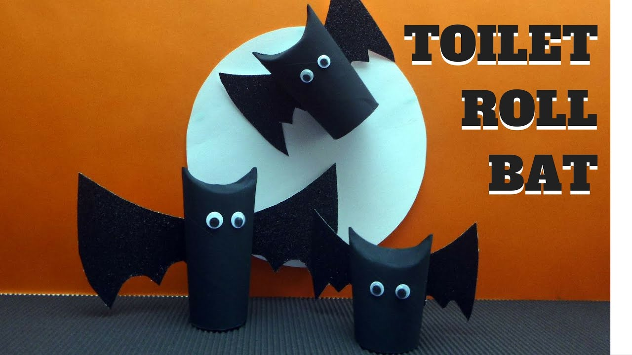 halloween crafts toilet paper roll bat toilet paper roll crafts youtube