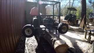 Sawmilling White Oak To Make A Beautiful Barn Door. Fast Foward