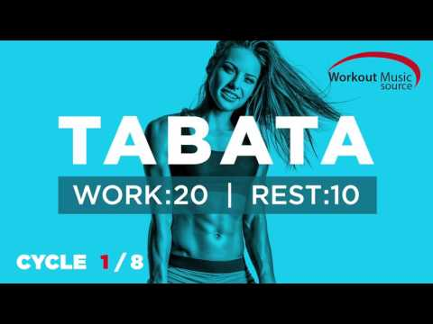 Workout Music Source  TABATA Cycle 18 With Vocal Cues Work: 20 Secs  Rest: 10 Secs
